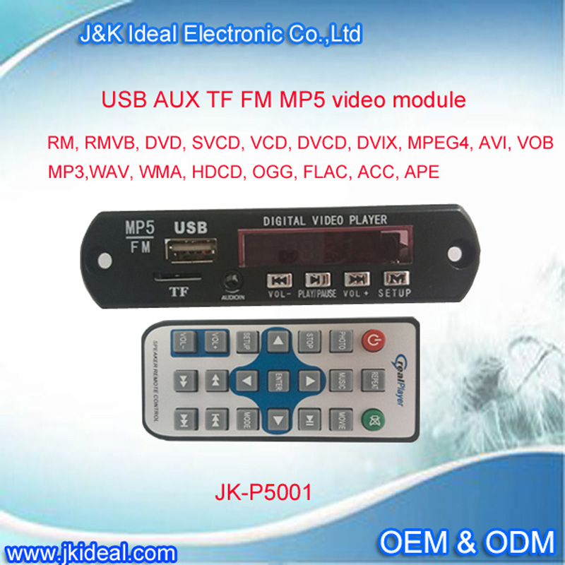 JK-P5001 usb fm mp3 module bluetooth mp4 mp5 tv repair parts