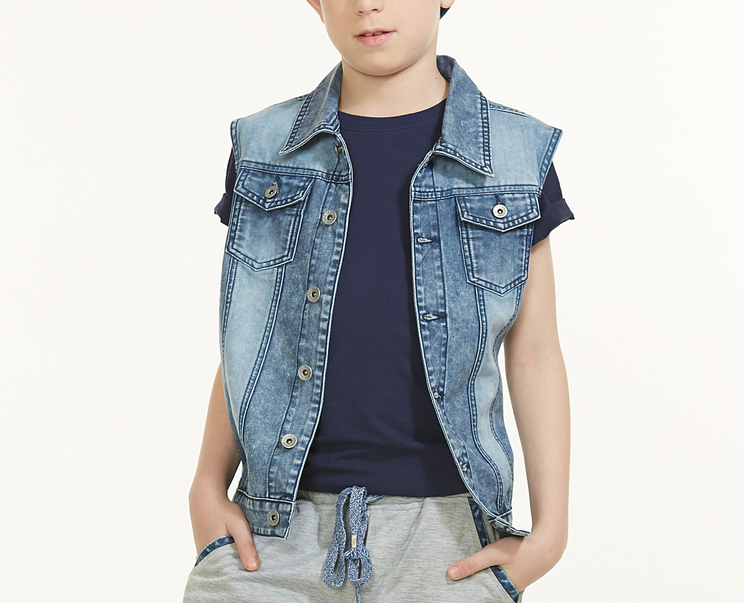 Denim Jacket Without Sleeve Children Denim Vest Boys Denim Vest ...