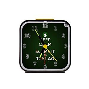 The Fame Keep Calm And Blame It On The Lag Funny Custom Square Black Alarm Clock Travel Clock