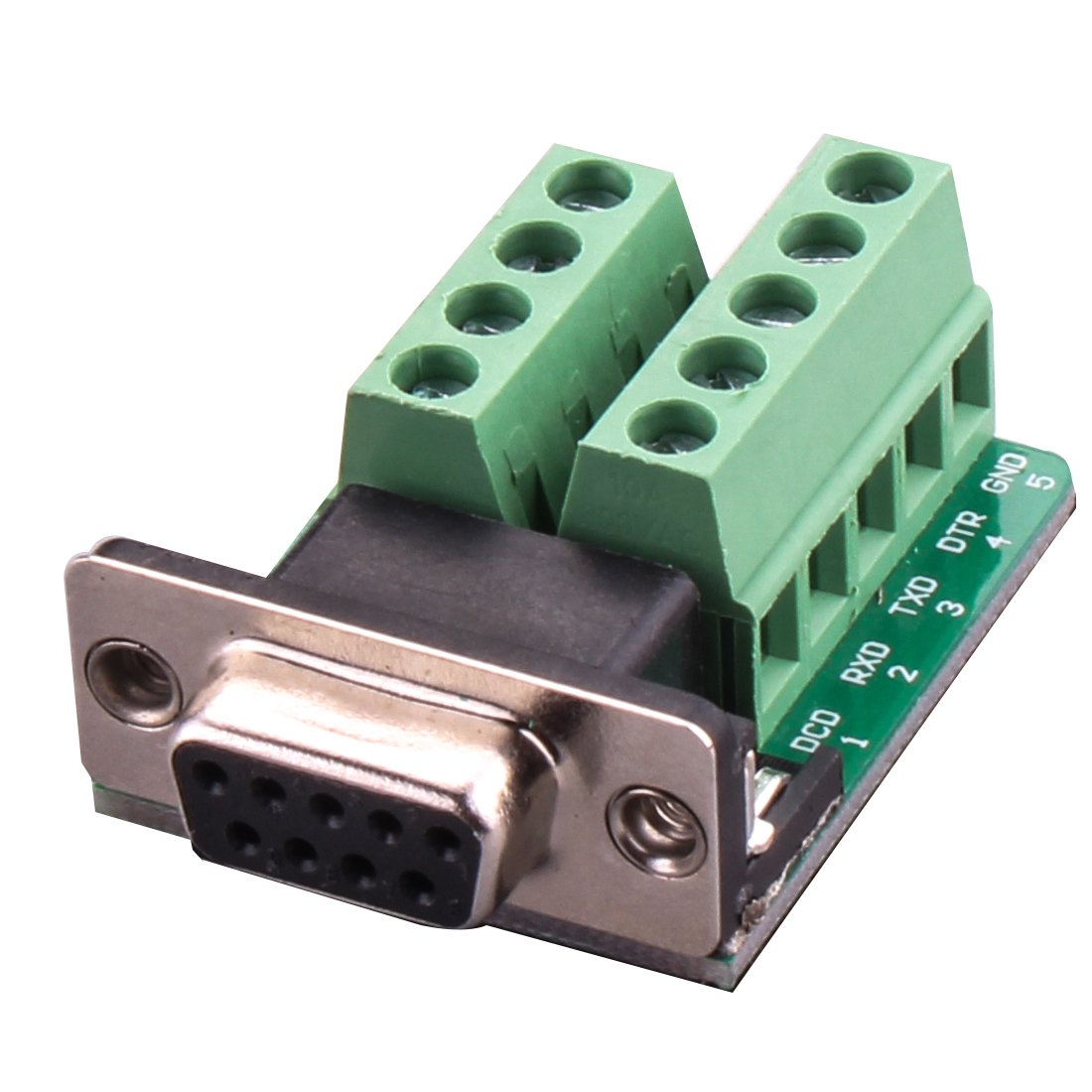 DB9 Adapter --Connector DB9 RS232 D-SUB Female Plug 9-pin Port Adapter to Terminal Connector Signal Module (Module B)