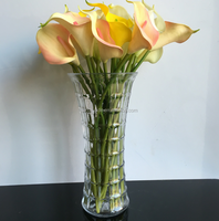 awsome quality floral mouth thin waist most popular Glass Vase