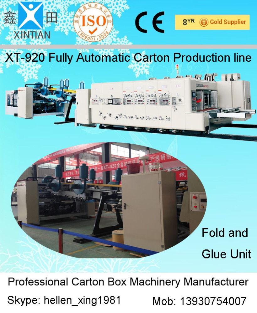 Flexo Printer Slotter Die-cutter Inline Folder Gluer & Counter Ejector Case Maker manufacturer china made in dongguang of hebei
