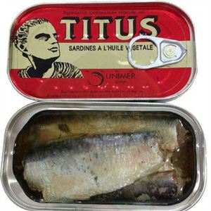 125g canned sardine fish in brine/tomato sauce/vegetable oil from morocco