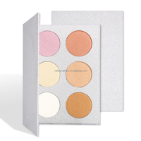 Hot selling high quality private label 6 colors highlighter makeup eyeshadow