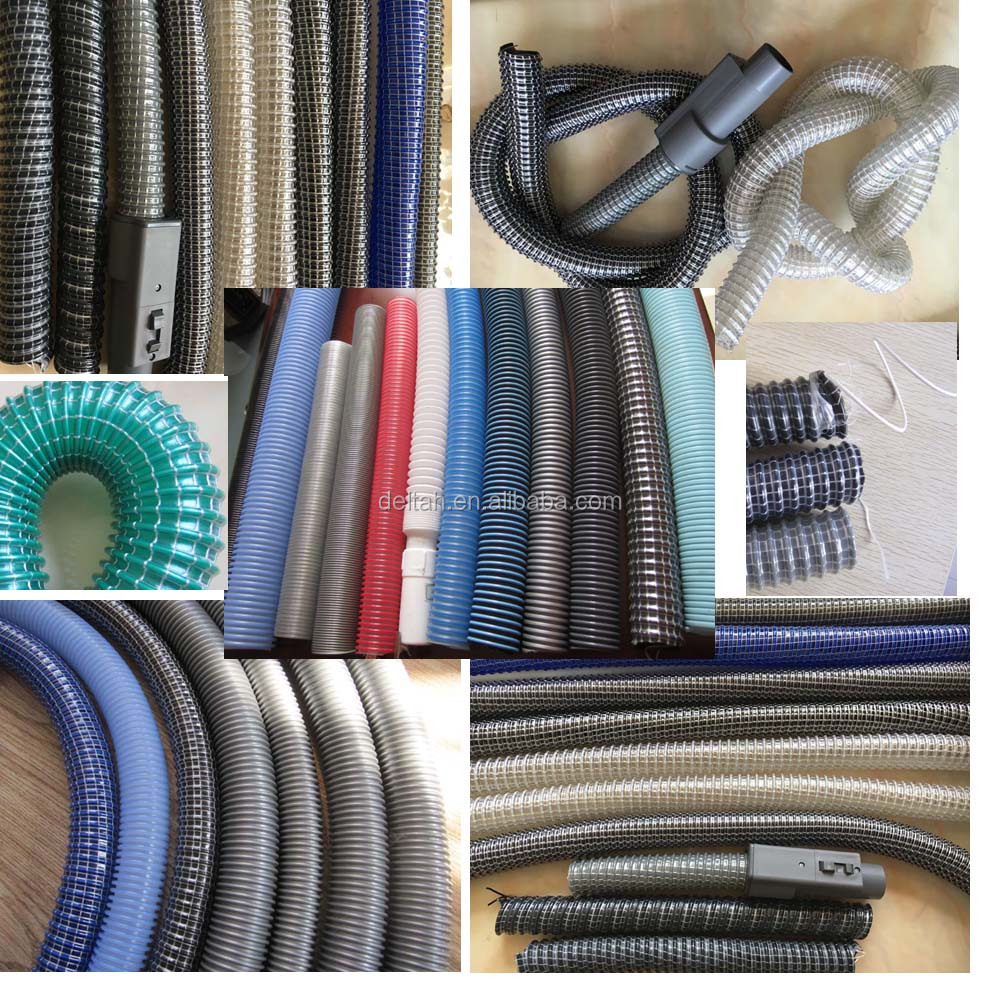 Flexible coiled PVC suction vacuum cleaner duct making machine