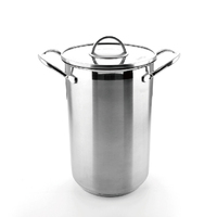 304 stainless steel asparagus pot pasta pot with glass lid and inner strainer
