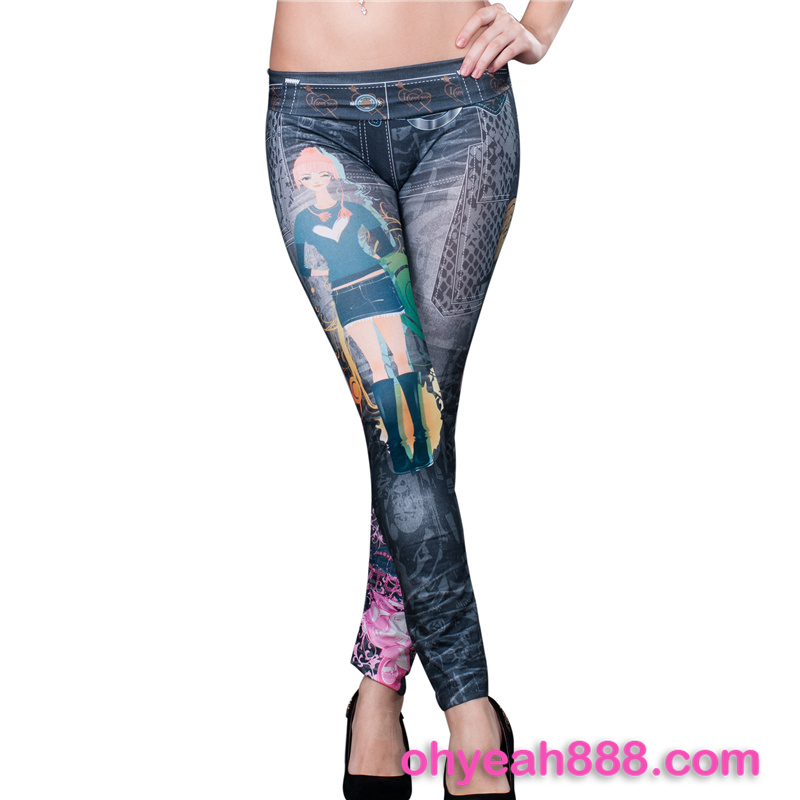High quality sublimation women printed brand name leggings