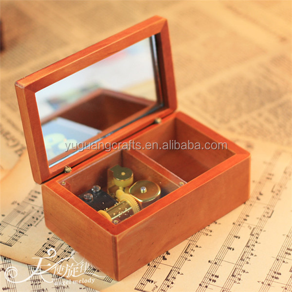 china supplier antique wooden jewelry box with mirror wholesale