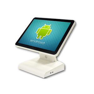 Newest high quality Android pos system pure flat touch screen Android all in one pos with VFD customer display