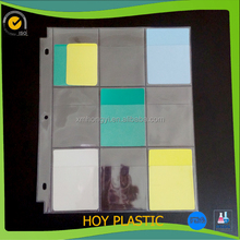 clear plastic trade card inner sheet protector