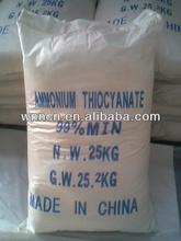 Ammonium Thiocyanate tech grade: inorganic industry used in the manufacture of cyanide, thiocyanate, ferrocyanide, thiourea