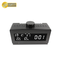 FHD 1080P Weather Clock Rotating Lens Hidden Camera FM Radio Wireless Spy Camera Bedroom Clock Camera