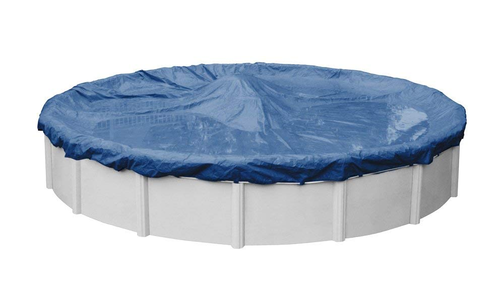 Pool Mate 4715-4-PM Commercial-Grade Rip-Shield Winter Round above-Ground Cover, 15-ft. Pool, Dazzling Blue