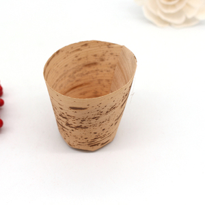 Natural bamboo dish biodegradable bamboo leaf cup