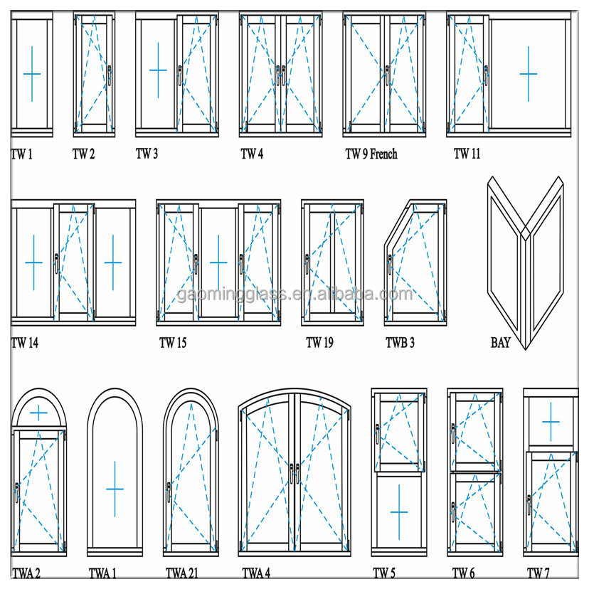 Tempered glass jalousies aluminum window supplier 095 for Types of window panes