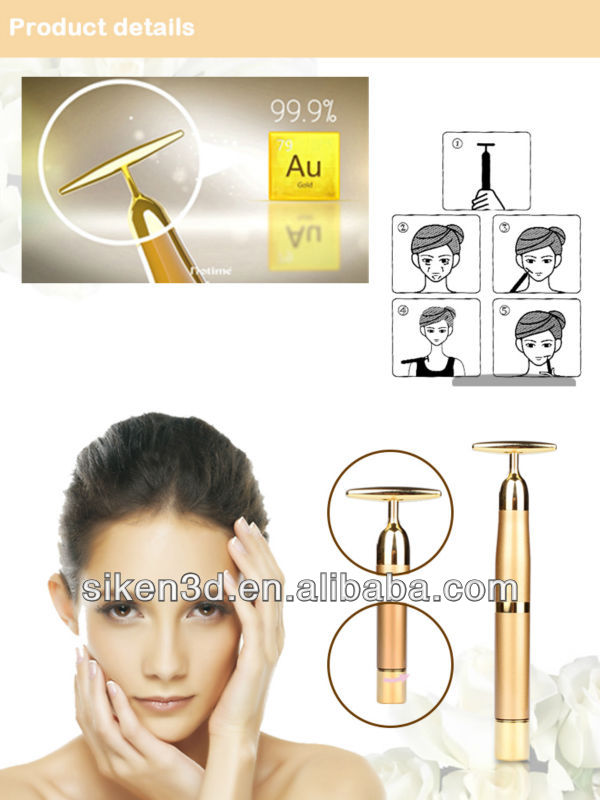 2016 beauty eye massage home appliance and beauty face 24k gold bars