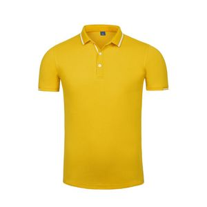 High-end tencel cotton short-sleeve lapel golf polo t shirt