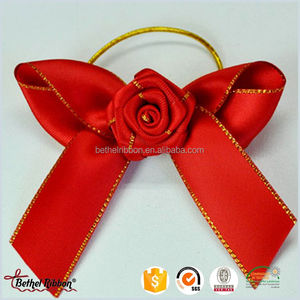 Alibaba china unique bow tie packaging box with ribbon