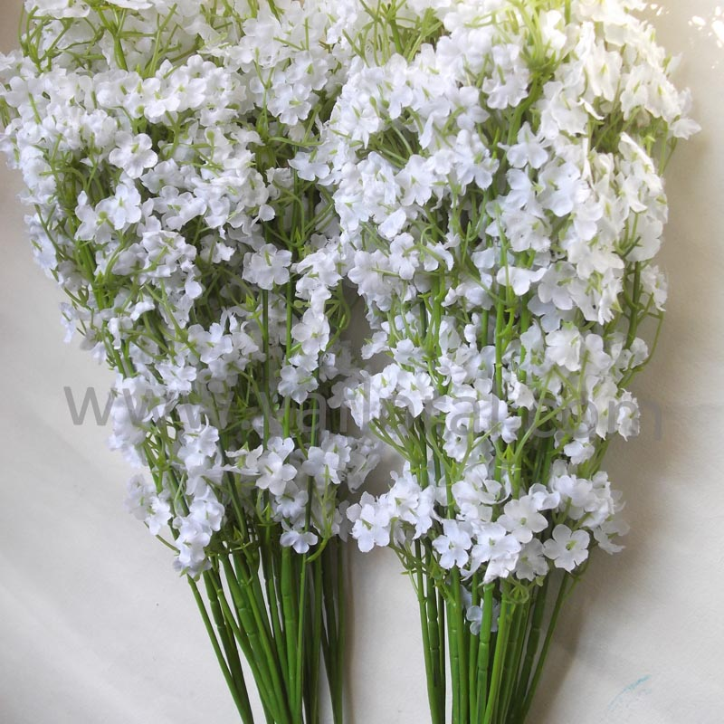 Real Touch Wedding Bouquet Silk Gypsophlia Artificial Flower Display ...