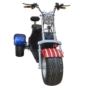 motorcycle fat tire 3 wheel e scooter with three wheels