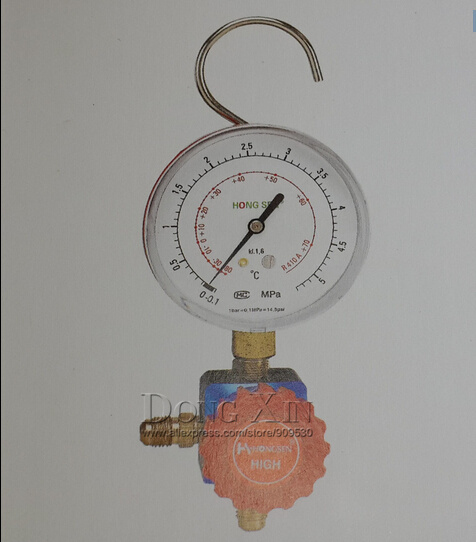 R410 HS-468A high pressure air- conditioning refrigerant grade single table valve pressure gauge Diagnostic dosing tool