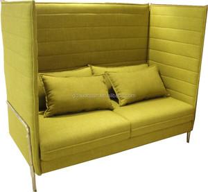 Classic Alcove High Back Sofa Thromed Leg Office Sofa