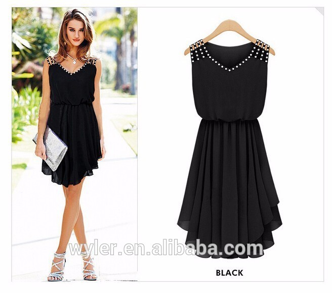 2016 Fashion Women Dresses Cozy Casual Elegant Noble Summer Vestidos Girl Dresses Chiffon Sexy Vestidos Buy Vestidosvestidos Shortsummer Vestidos
