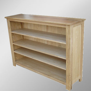 302 Range Solid Oak Low Wide Bookcases Wood Book Racks
