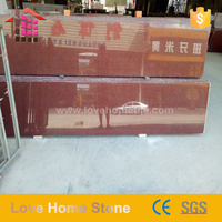China beautiful red granite stair column for middle east luxury house
