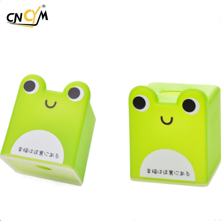 Hot Selling Simple design multi color cute animal pp clear square plastic tissue box