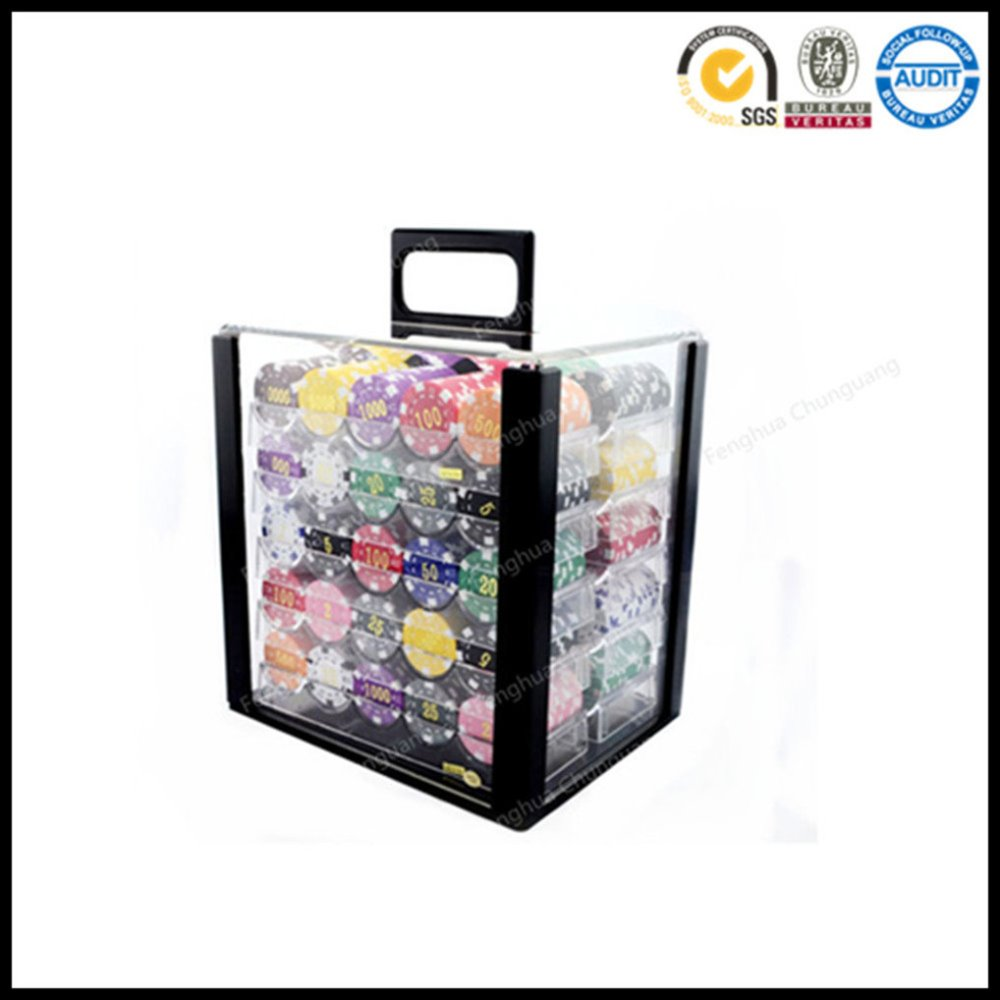 Premium 1000 Poker Chip Set with Tray in Case
