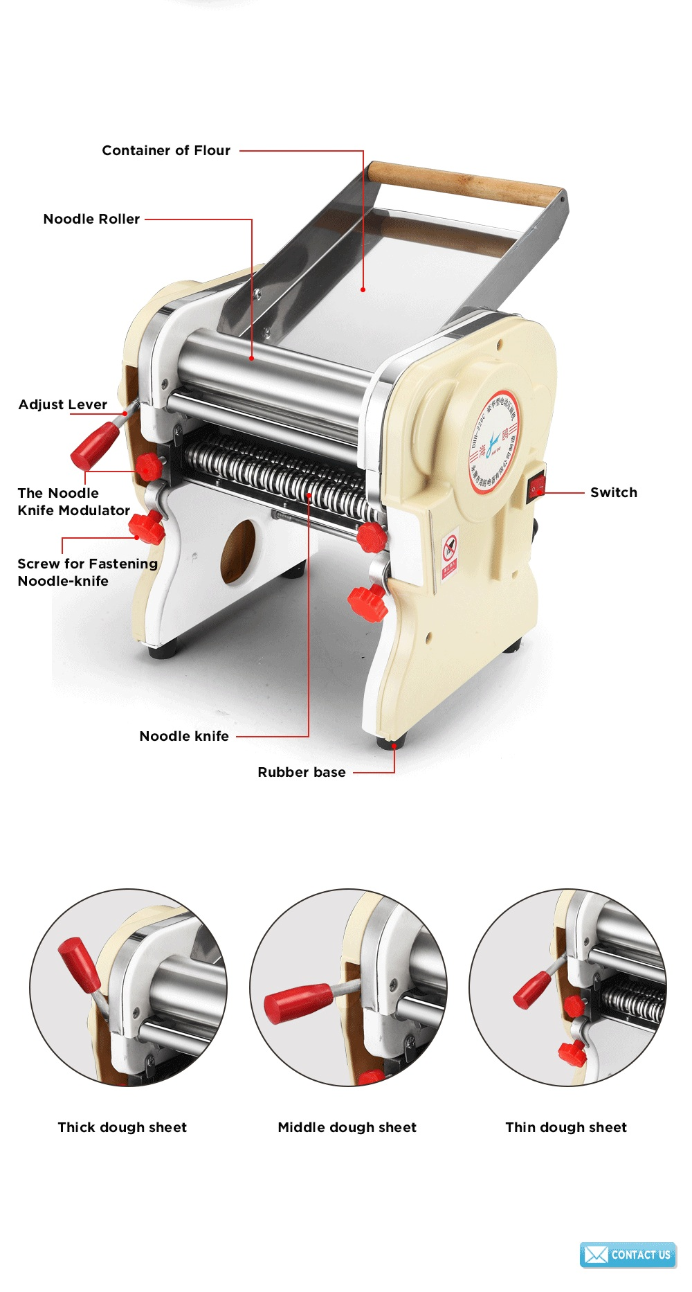 DHH-200 2014 new style High Quality Fondant Roller Machine