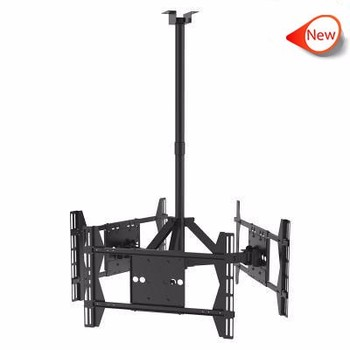3-Screens Adjusted led/lcd Ceiling TV Mount for 32-63 inch