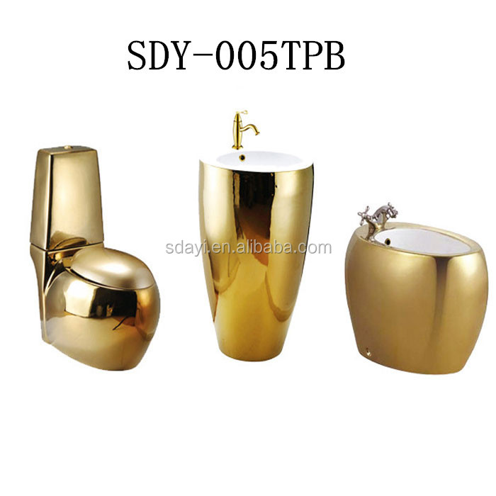 Outstanding Ceramic Gold Color Toilet Bowl Basin Bidet Bathroom Golden Toilet Sets Buy Golden Toilet Sets Gold Western Toilet Series Color Toilet Pedestal Basin Inzonedesignstudio Interior Chair Design Inzonedesignstudiocom