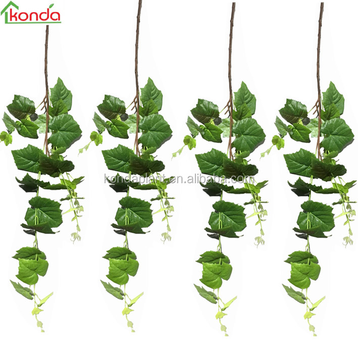 types of ornamental plants artificial plastic ivy vines artificial wall hanging plant