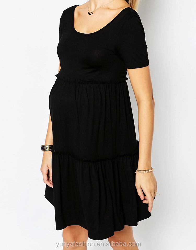 f48f56df0844f China Maternity Clothes Manufacturers Black Color Pregnancy Dress ...