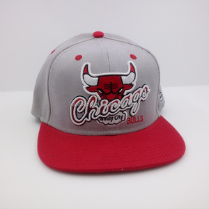 Wholesale red custom logo 3d embroidery bull 6 panel snapback hats