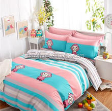 HOT SALE microfiber fabric Brand printed bedding set/bed sheet/quilt