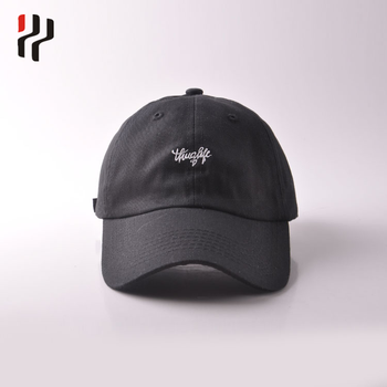 2a9fdde11 Hot Sale Metal Buckle Text Embroidery Logo Curve Brim Custom Twill Cotton  Black Dad Hat 6 Panel Baseball Caps Manufacturers - Buy Metal Buckle ...