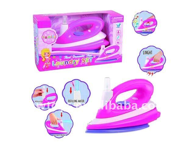Battery Operated Electric Iron Set Toy/iron Toy/kids Flat Iron Toy ...