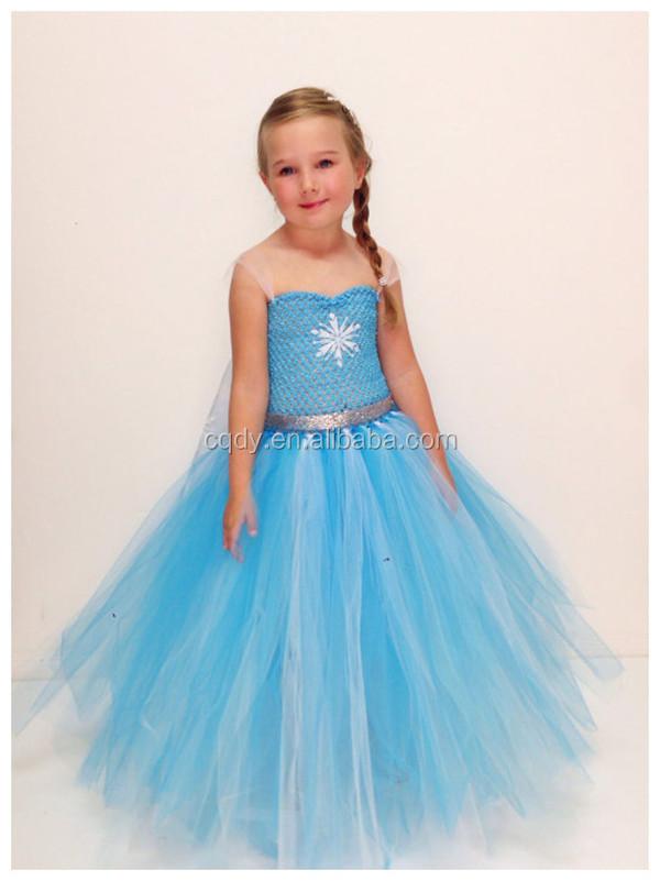 Neueste Design Gefrorene Prinzessin Elsa Kostüm Kleid Mit Hoher ...