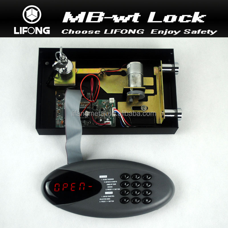 Without card electronic lock with two keys for hotel safe with digital code safe keypad