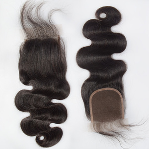 Brazilian human hair weave closure piece with part,cheap hair piece closure lace,deep wave virgin hair bundles with lace closure