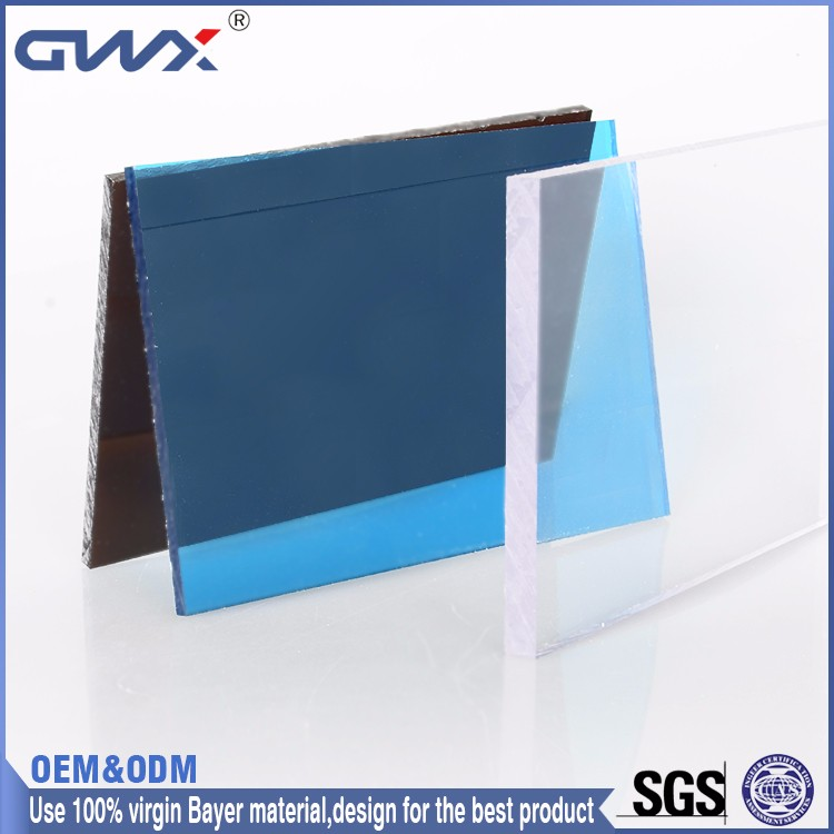 polycarbonate solid sheet 10years quality warranty UV coated