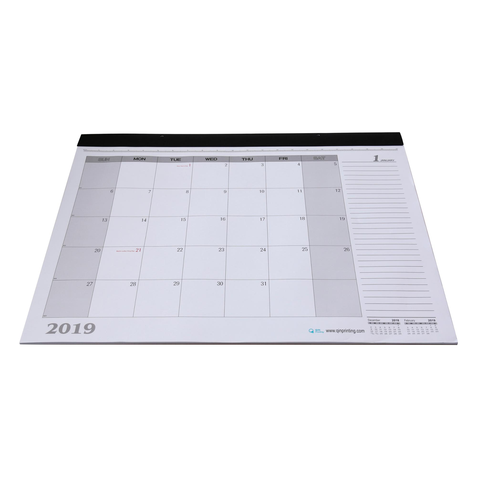 Print Custom Monthly Desk Pad Calendar 2019 View Custom Monthly Desk Pad Calendar 2019 Qinprinting Product Details From Shanghai Qinqin Printing