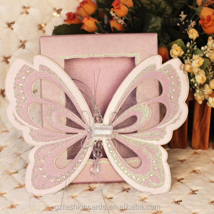 2015 Royal Butterfly Wedding Invitation Card Stock, View Wedding ...