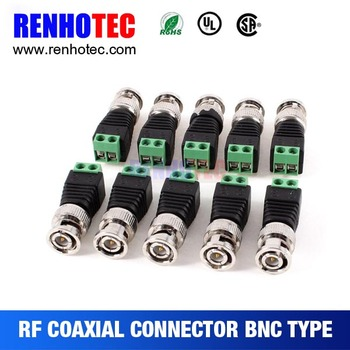 oem odm bnc to rj45 balun converter rf electrical connectors for wires cable