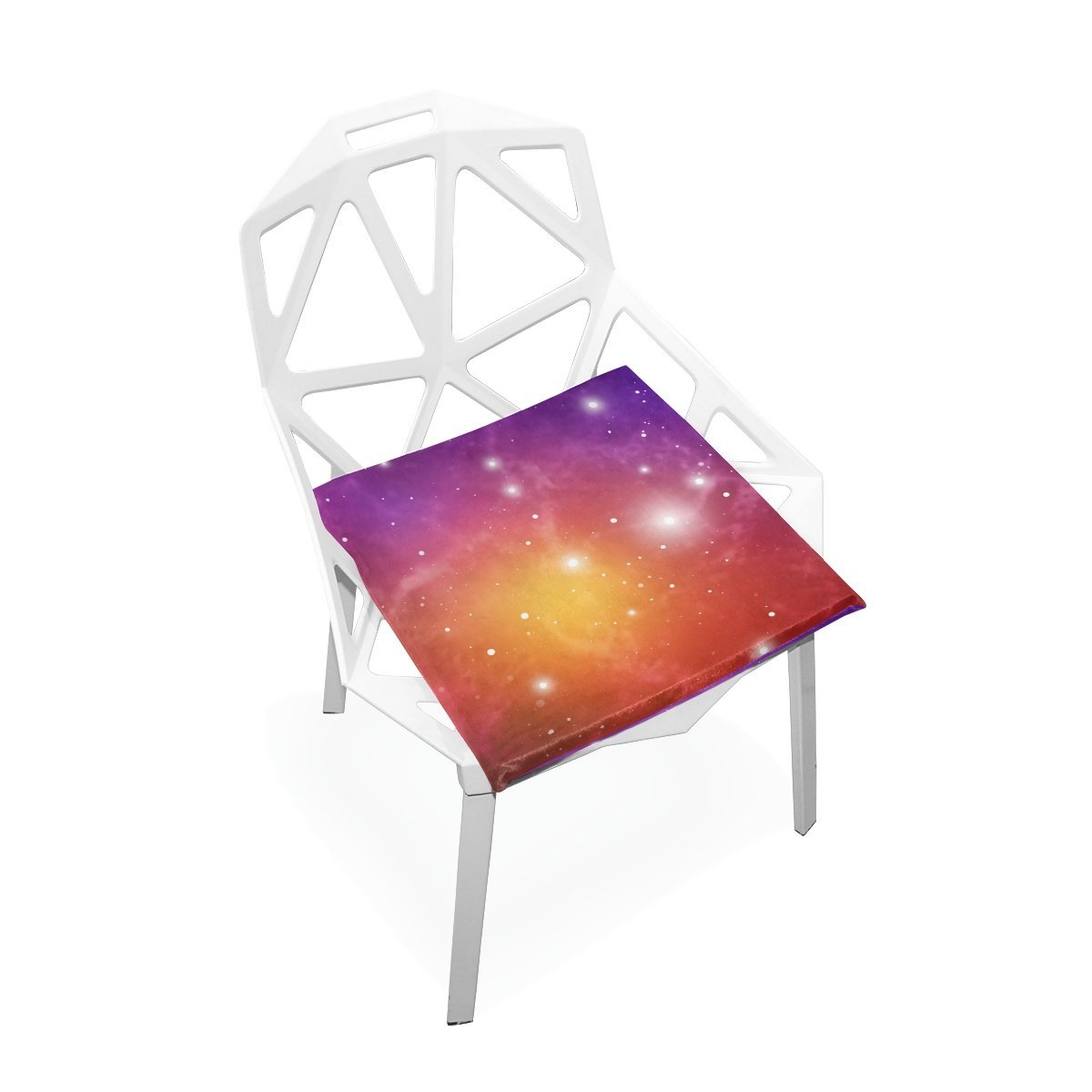 """PLAO Seat Cushion Pad, Red Starlight Cushions Seat Nonslip Chair Mats for Car Office Kitchen Chairs 16"""" X 16"""""""