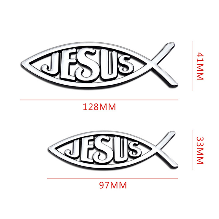 Custom funny letter auto truck jesus fish car sticker auto decal
