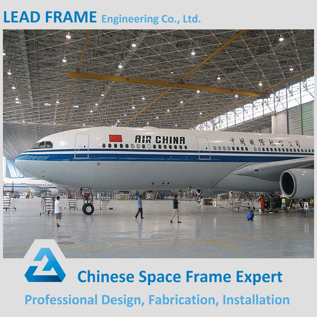 high design standard prefab galvanized steel frame metal hangar for sale